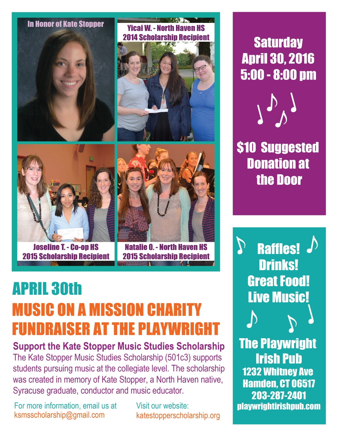 2016 Apr 30 Fundraiser Flyer 4 Photo Version 8.5 x 11 - HIGH RES